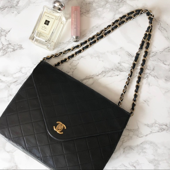 CHANEL Handbags - Classic Flap Vintage Envelope Black Lambskin 8c27f9ca43e39